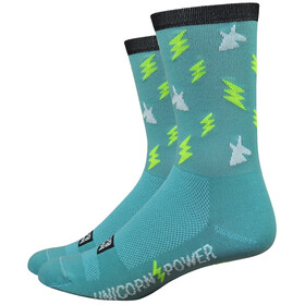 "DeFeet Aireator 6"" Chaussettes, unicorn power/teal"